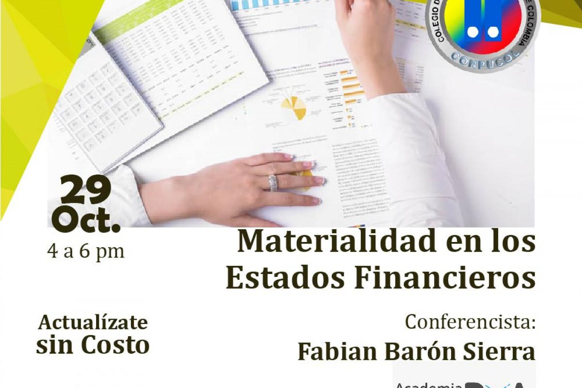 Materialidad En Los Estados Financieros